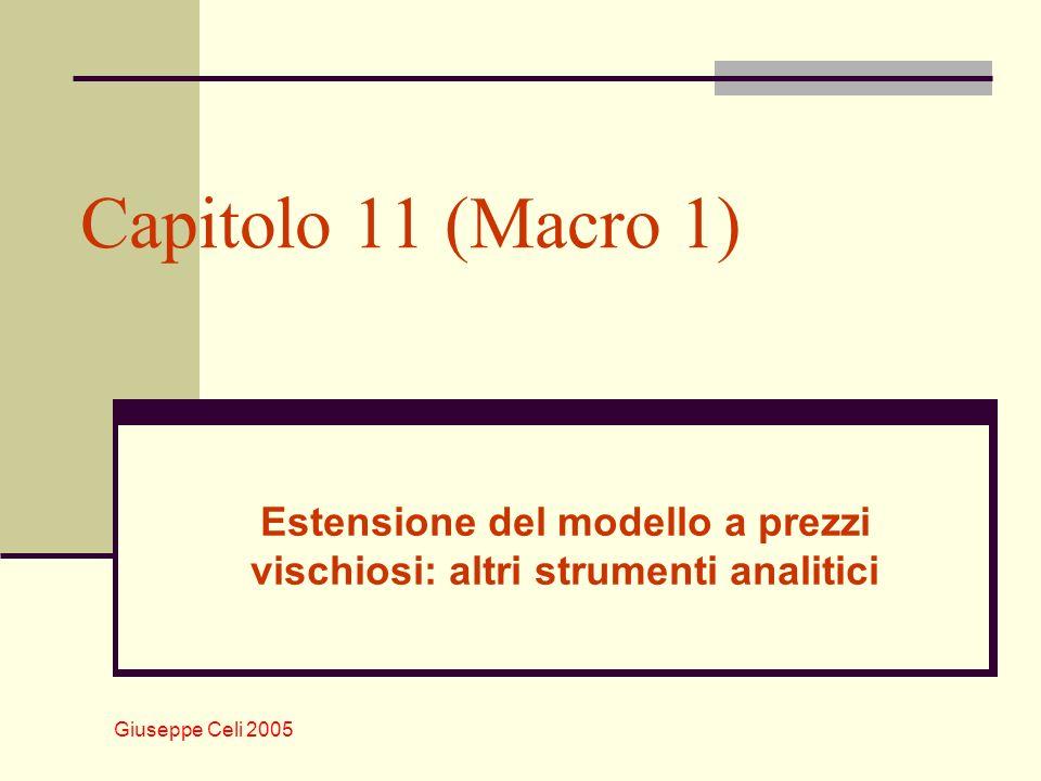Giuseppe Celi 2005 Estensione del modello a prezzi vischiosi: altri strumenti analitici Capitolo 11 (Macro 1)