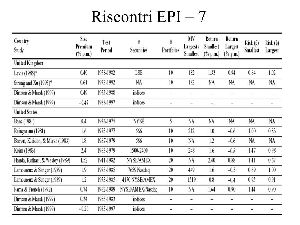 9 Riscontri EPI – 7