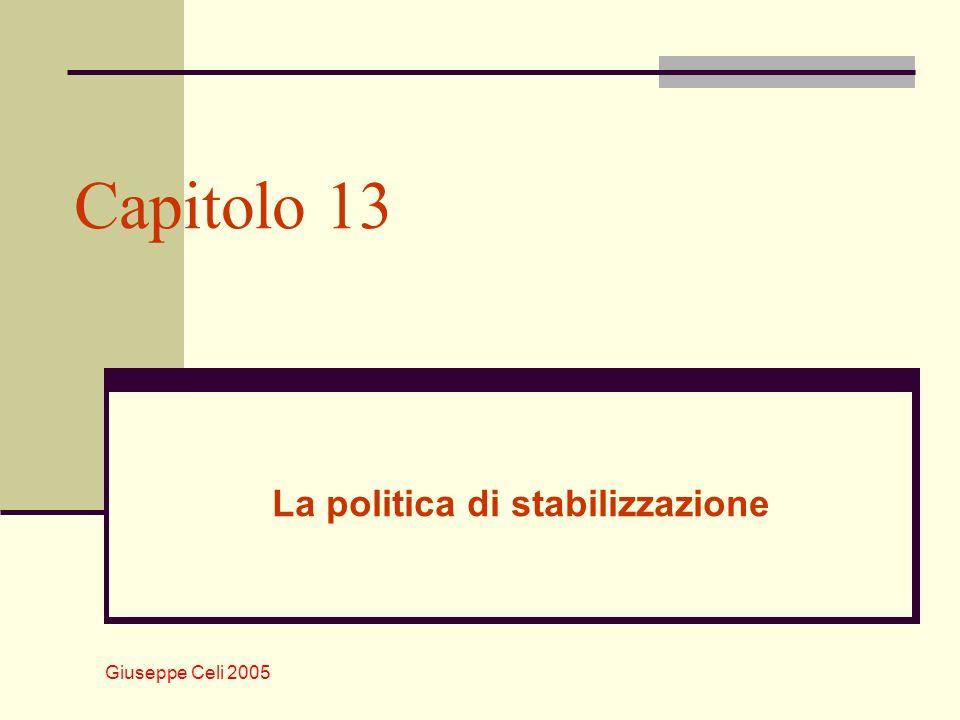 Giuseppe Celi 2005 La politica di stabilizzazione Capitolo 13