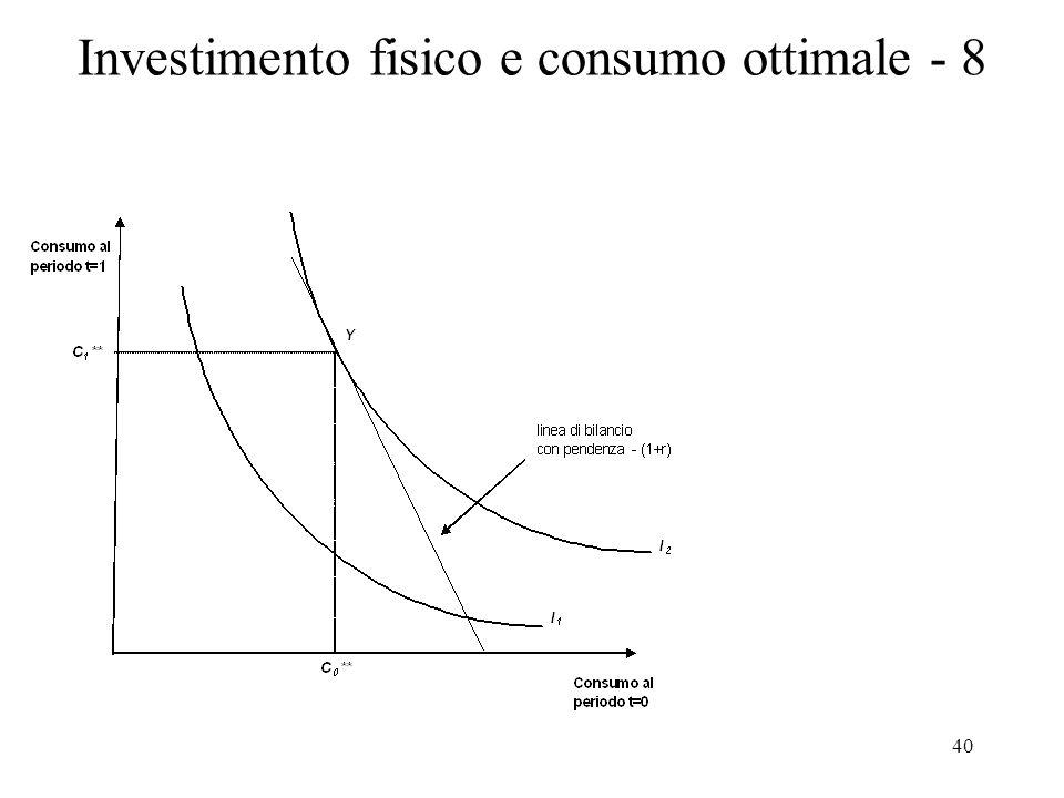 40 Investimento fisico e consumo ottimale - 8