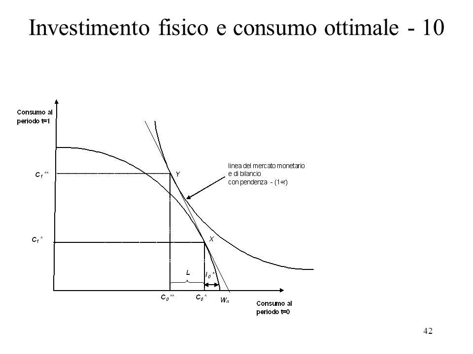 42 Investimento fisico e consumo ottimale - 10