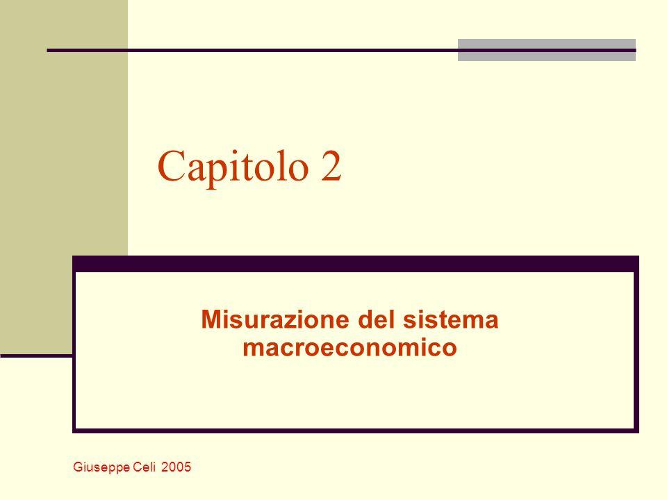 Giuseppe Celi 2005 Capitolo 2 Misurazione del sistema macroeconomico