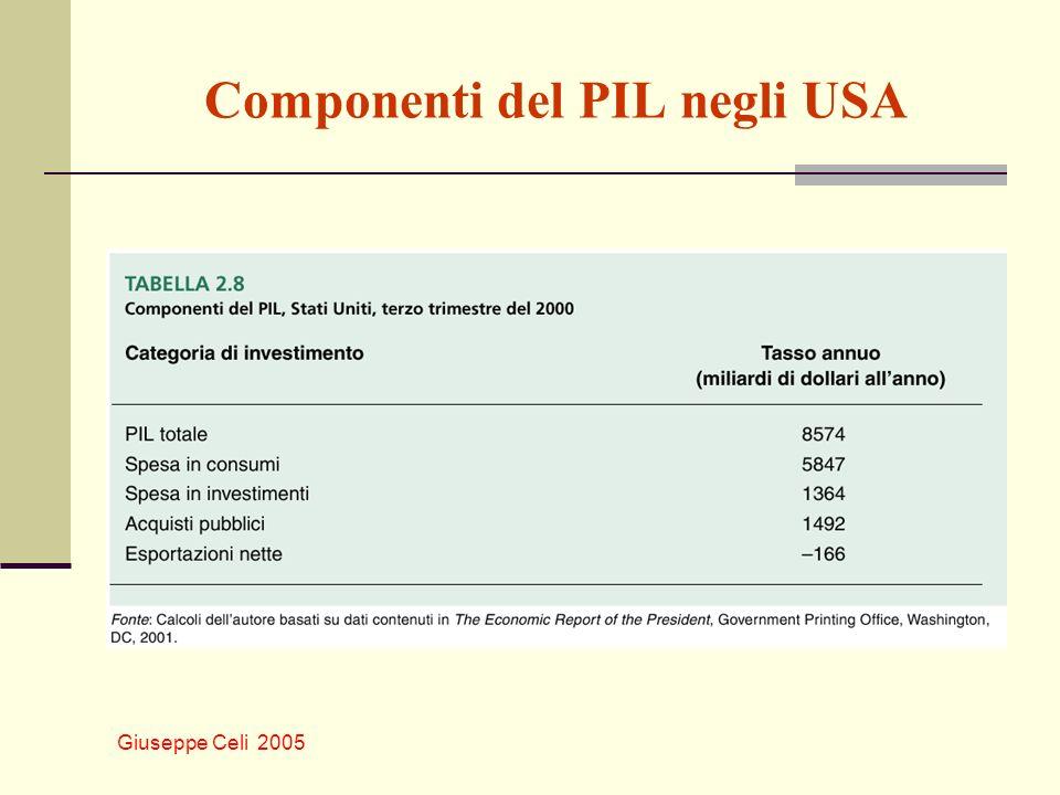 Giuseppe Celi 2005 Componenti del PIL negli USA