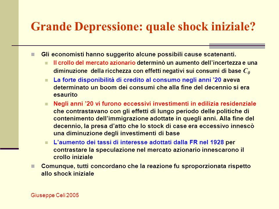 Giuseppe Celi 2005 Grande Depressione: quale shock iniziale.