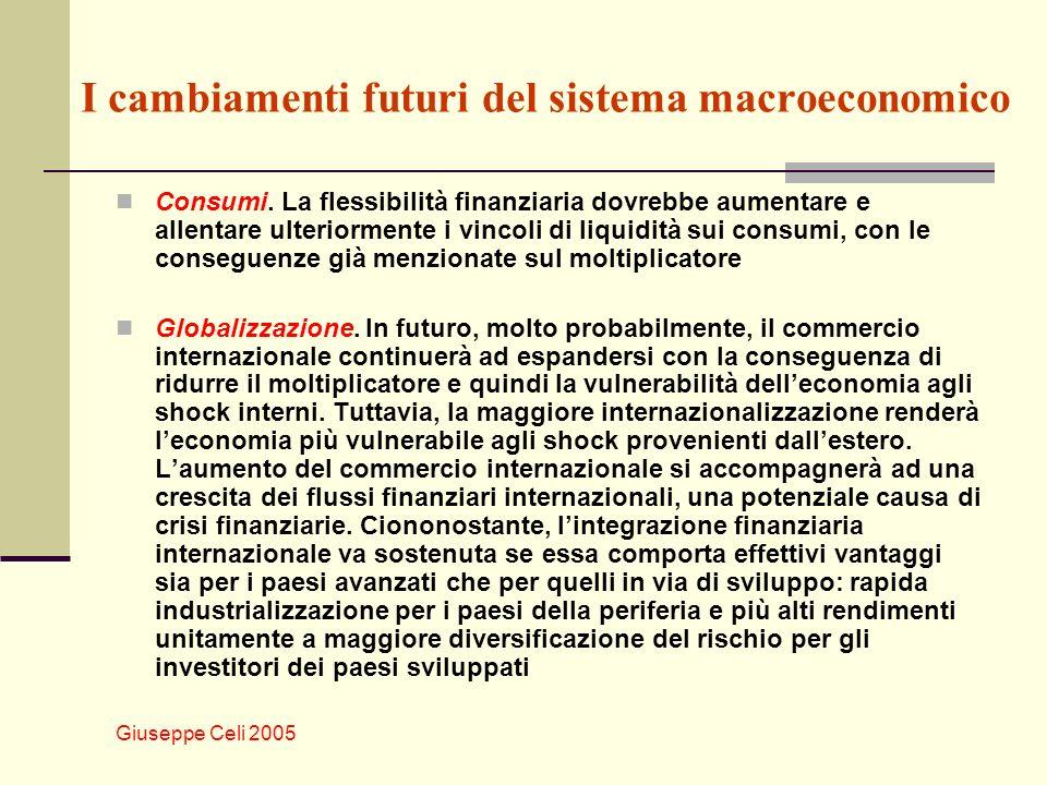 Giuseppe Celi 2005 I cambiamenti futuri del sistema macroeconomico Consumi.