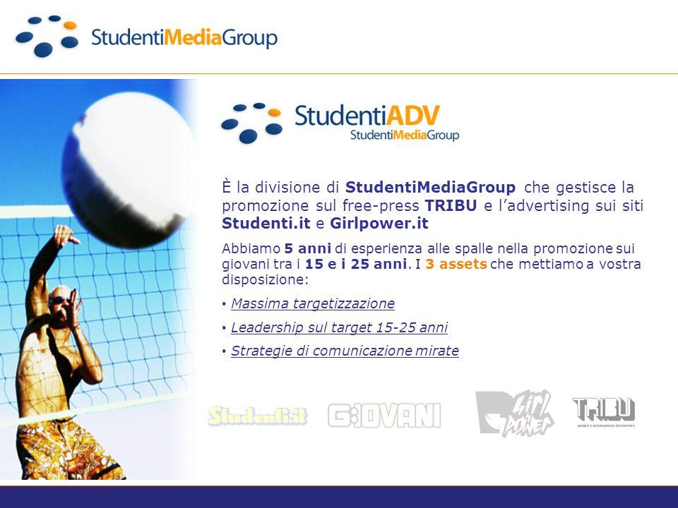 È la divisione di StudentiMediaGroup che gestisce il Marketing e il Business Development Web and Wireless to Consumer per lazienda.