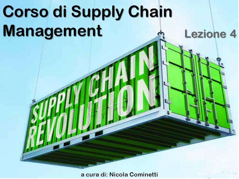 a cura di: Nicola Cominetti Corso di Supply Chain Management Lezione 4