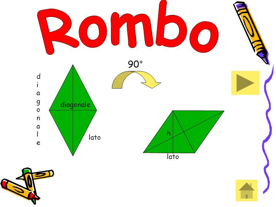 90° lato diagonalediagonale diagonale h h