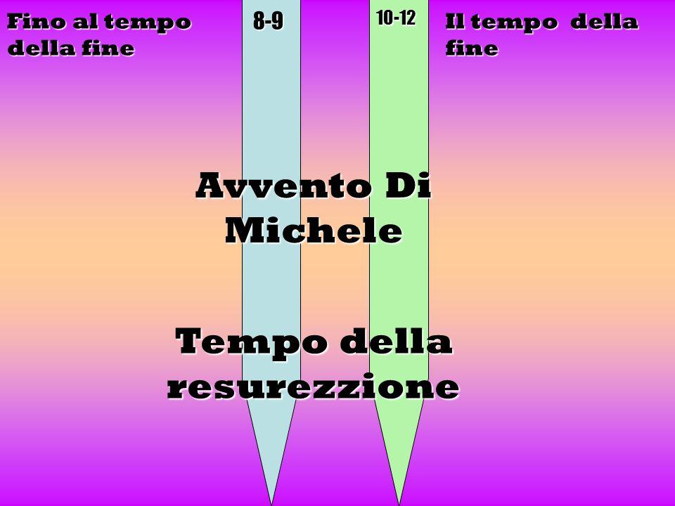 8-910-12 Il tempo della fine Avvento Di Michele Fino al tempo della fine Tempo della resurezzione