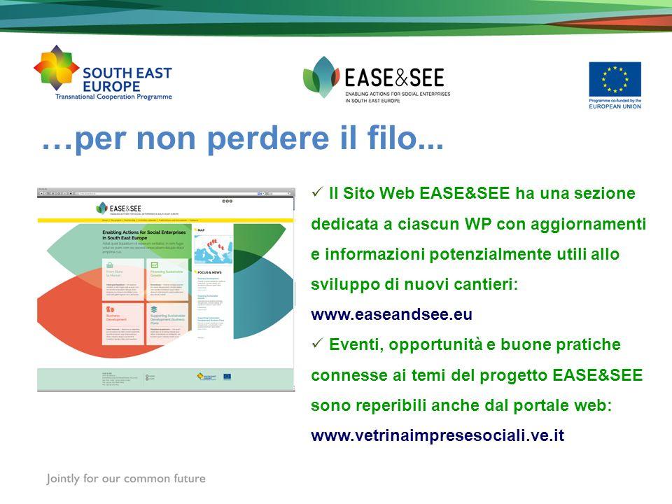 …per non perdere il filo... Il Sito Web EASE&SEE ha una sezione dedicata a ciascun WP con aggiornamenti e informazioni potenzialmente utili allo svilu