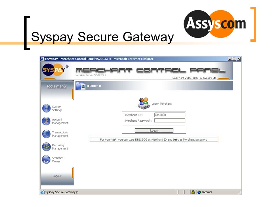 Syspay Secure Gateway