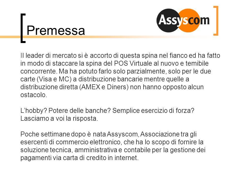 Premessa Le accuse del leader di mercato sono cadute di fronte a Banca dItalia e con la collaborazione e protezione di BankAmericard il servizio è ripreso.