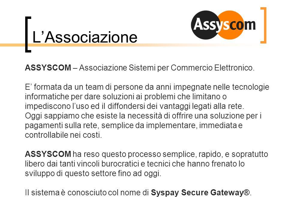 LAssociazione ASSYSCOM – Associazione Sistemi per Commercio Elettronico. E formata da un team di persone da anni impegnate nelle tecnologie informatic