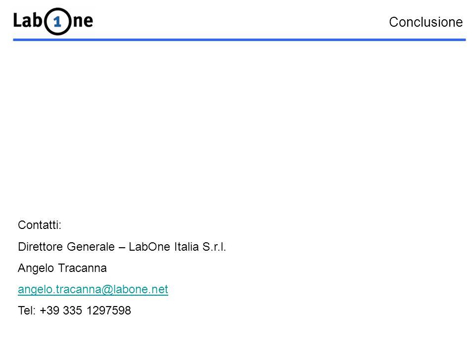 Conclusione Contatti: Direttore Generale – LabOne Italia S.r.l.