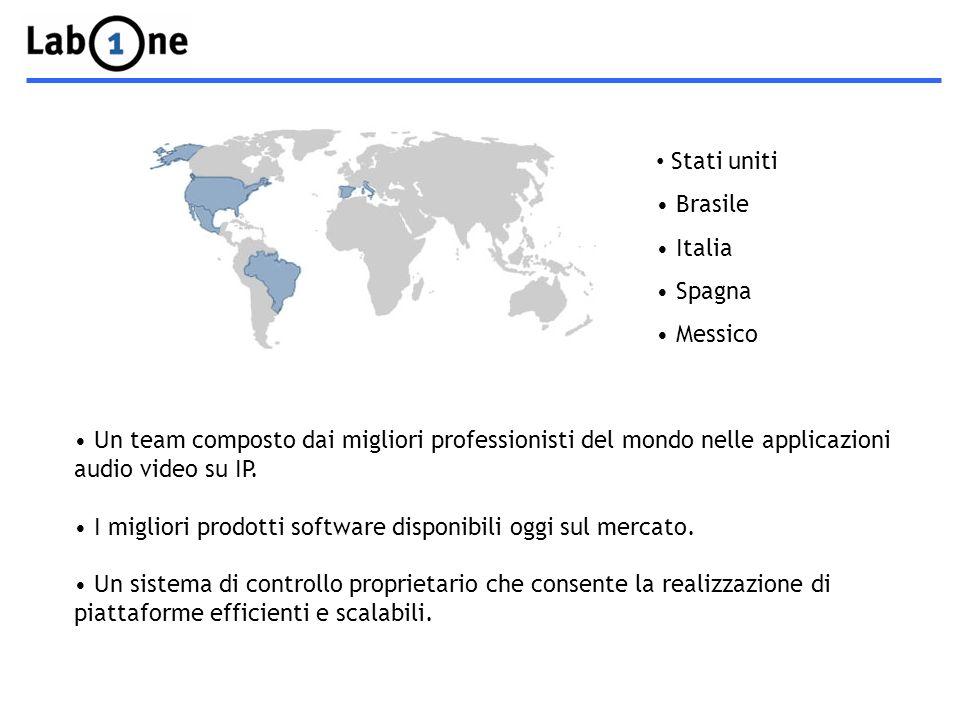 Stati uniti Brasile Italia Spagna Messico Un team composto dai migliori professionisti del mondo nelle applicazioni audio video su IP.