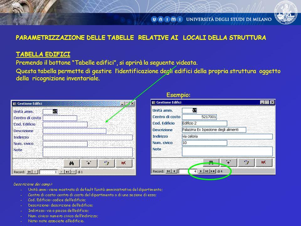 STAMPE DI RISCONTRO STAMPA ELENCO RICOGNIZIONE Esempio n. 1: stampa tutti i beni