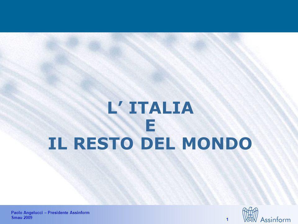 Paolo Angelucci – Presidente Assinform Smau 2009 1 L ITALIA E IL RESTO DEL MONDO