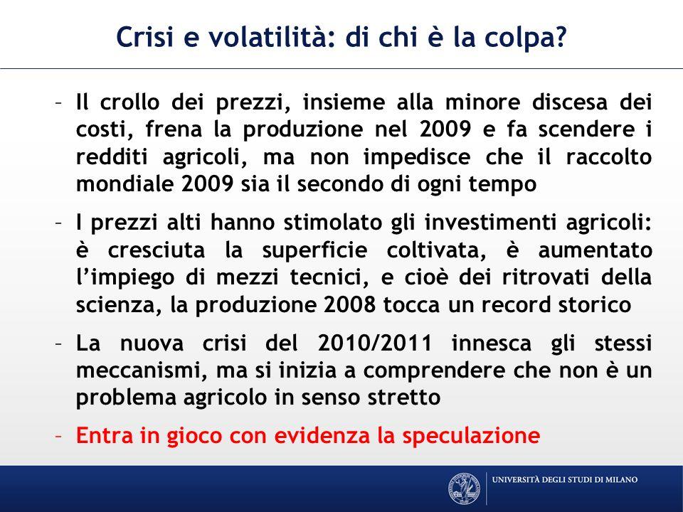 Crisi e volatilità: di chi è la colpa.