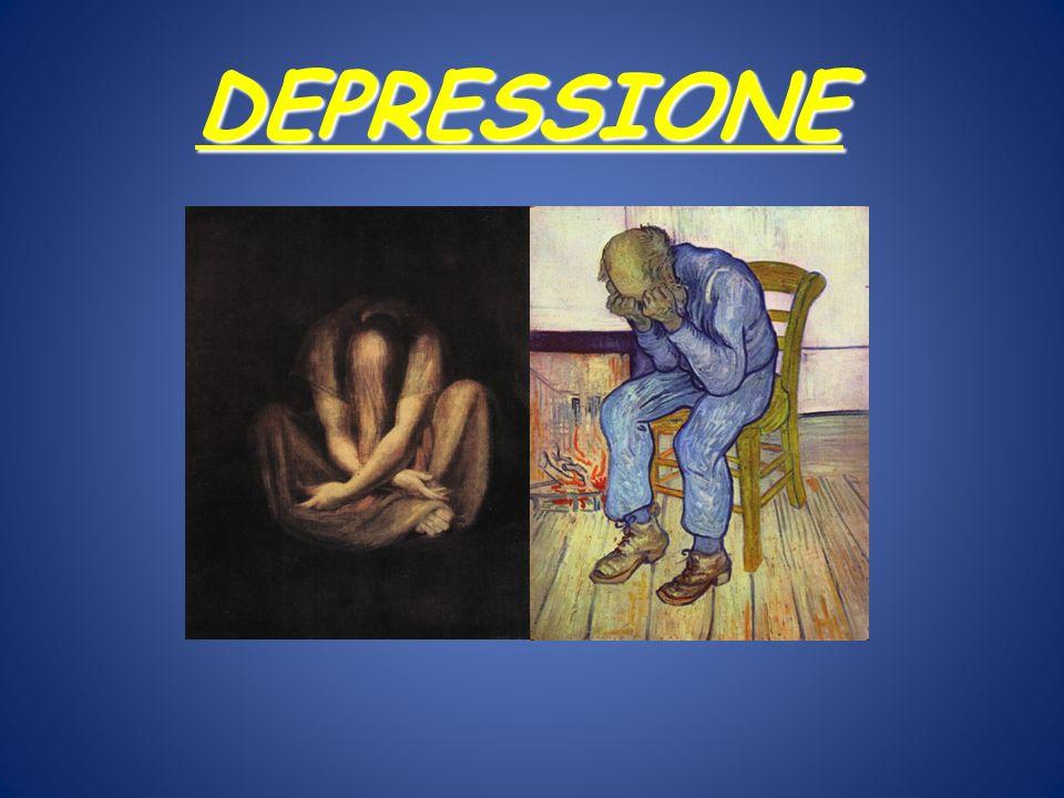 Disturbi dellumore Depressione maggiore o unipolare Disturbo bipolare Depressione delirante Distimia …… NB.