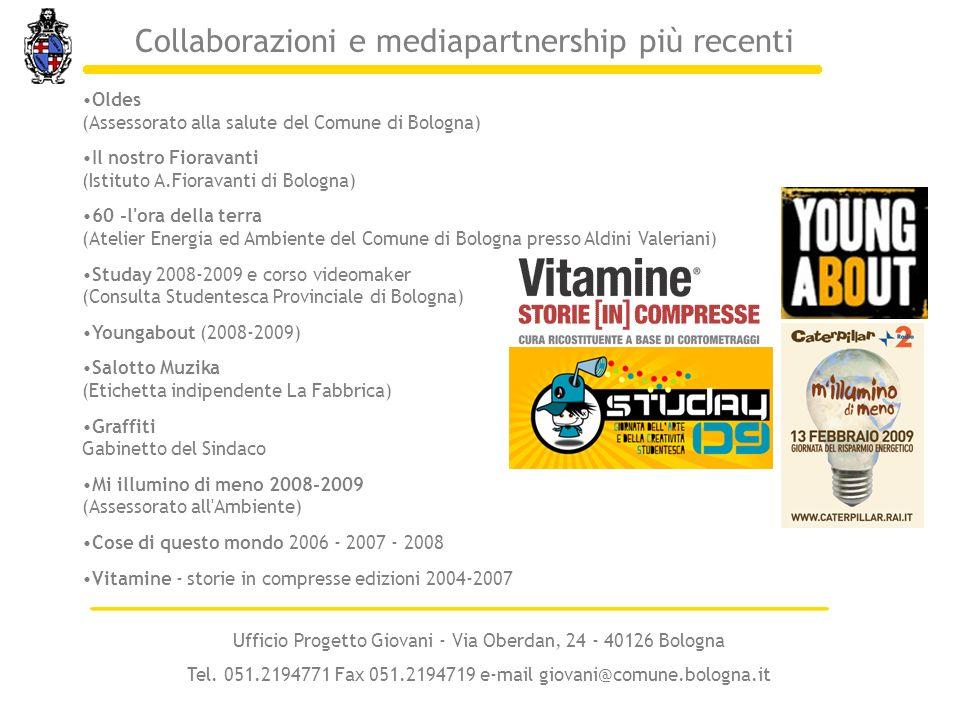 Oldes (Assessorato alla salute del Comune di Bologna) Il nostro Fioravanti (Istituto A.Fioravanti di Bologna) 60 -l'ora della terra (Atelier Energia e