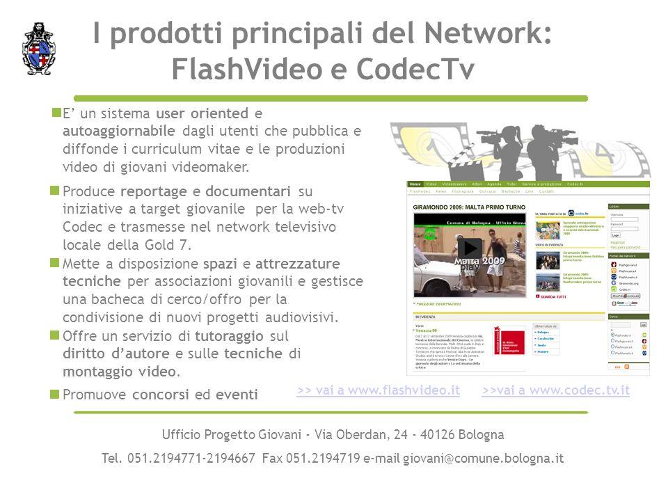 Produce reportage e documentari su iniziative a target giovanile per la web-tv Codec e trasmesse nel network televisivo locale della Gold 7. E un sist