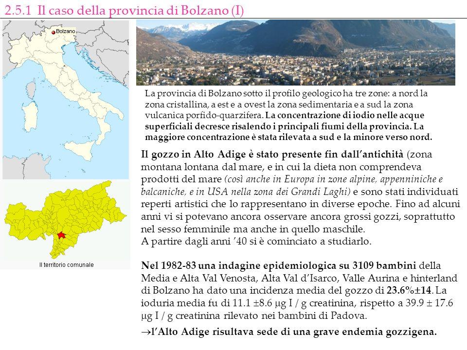 Il gozzo in Alto Adige è stato presente fin dallantichità (zona montana lontana dal mare, e in cui la dieta non comprendeva prodotti del mare (così an