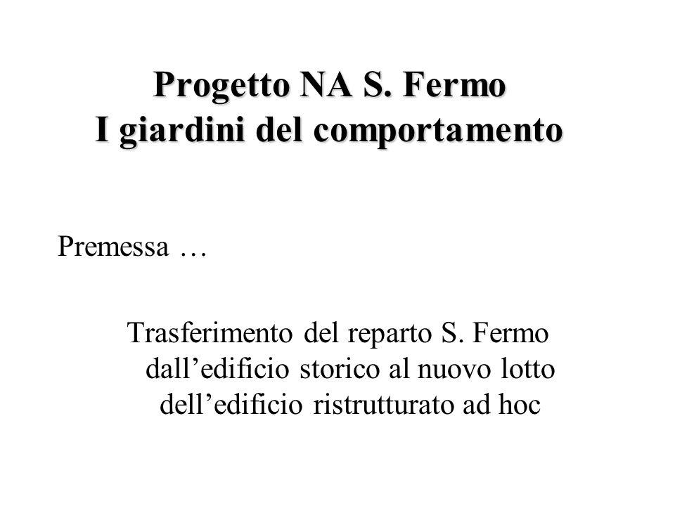 Progetto NA S.Fermo I giardini del comportamento Premessa … Trasferimento del reparto S.