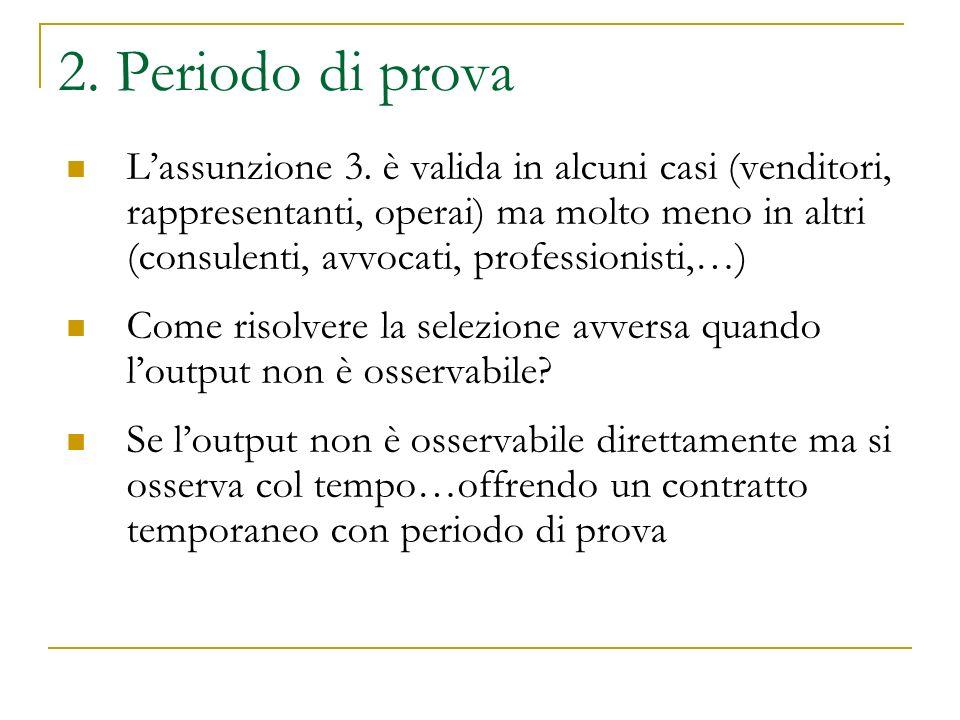 2. Periodo di prova Lassunzione 3.