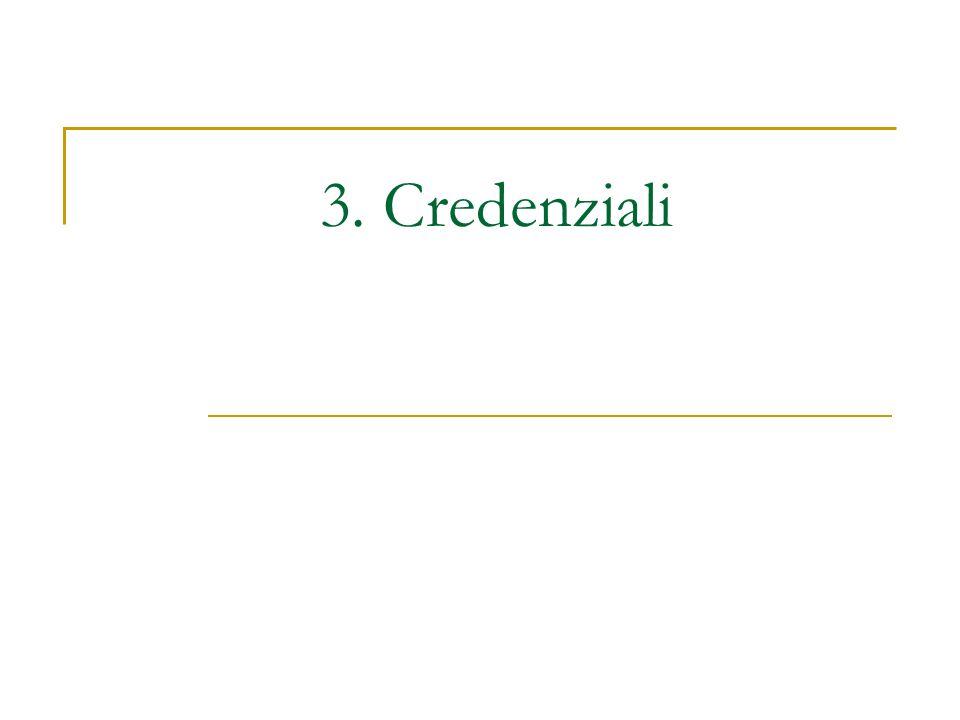 3. Credenziali