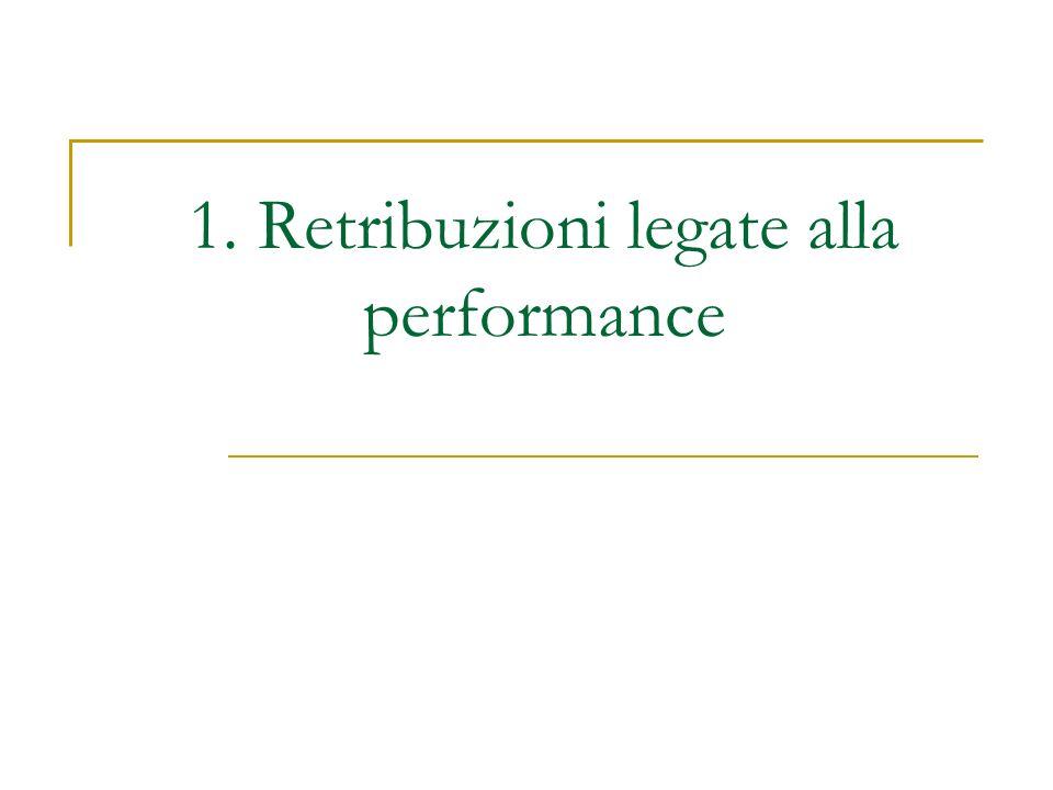 1. Retribuzioni legate alla performance