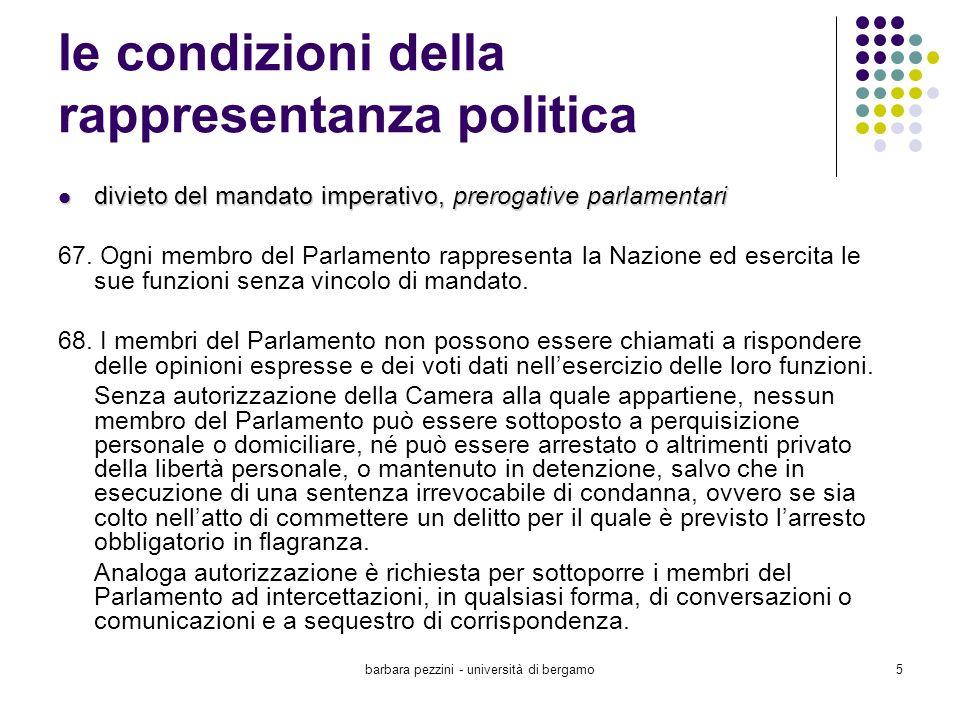 barbara pezzini - università di bergamo16 L uguaglianza tra i sessi in materia elettorale elettorato attivo Art.