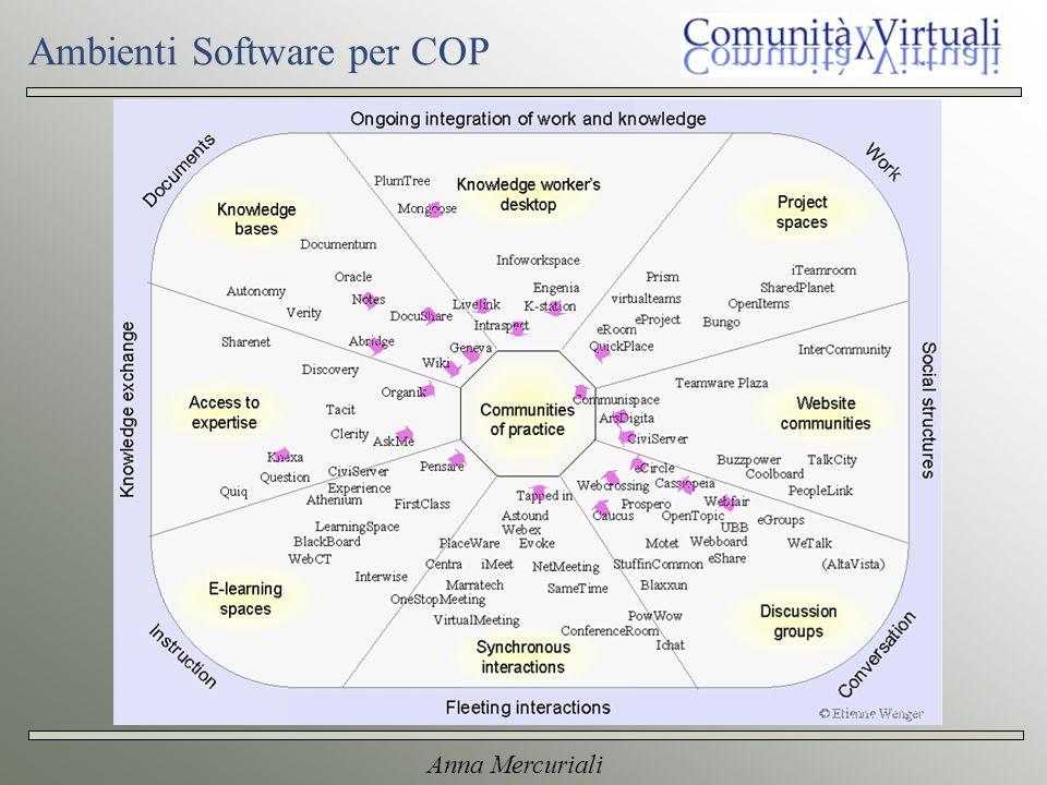 Anna Mercuriali Ambienti Software per COP