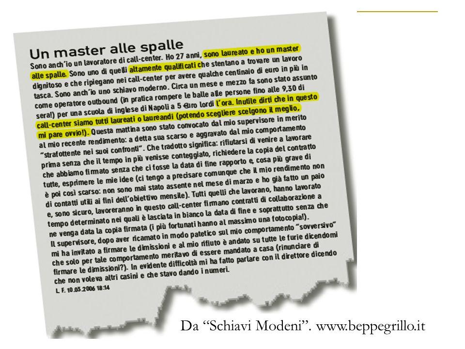 Da Schiavi Modeni. www.beppegrillo.it