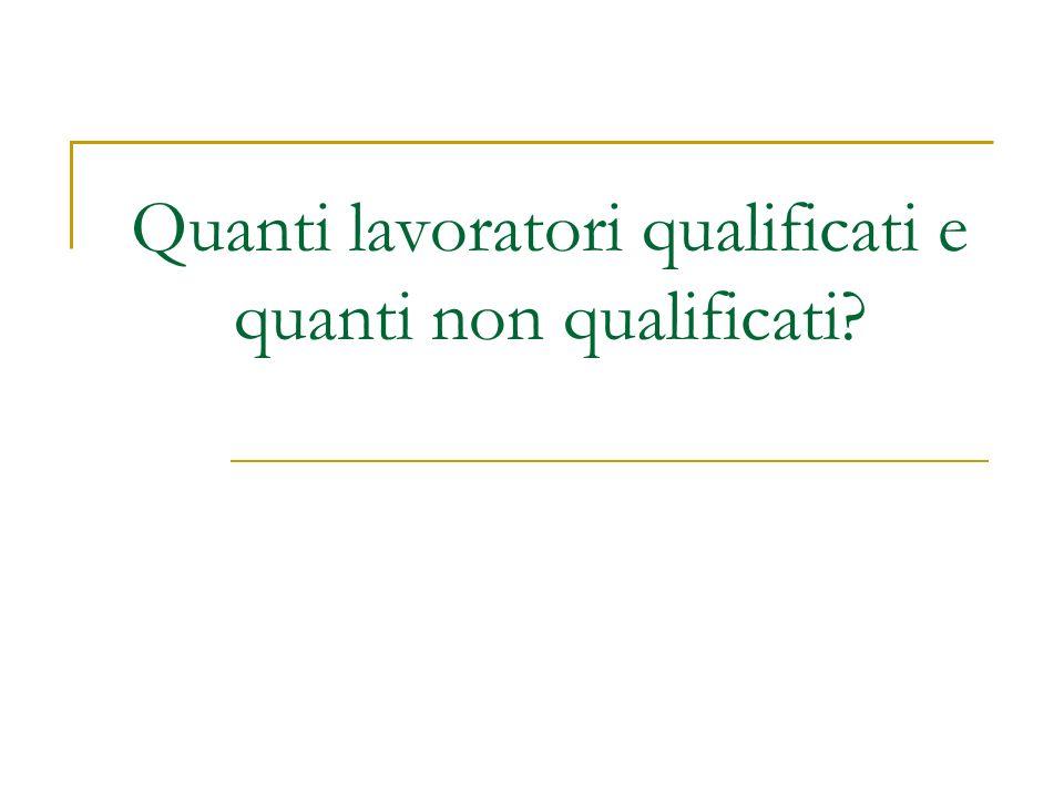 Quanti lavoratori qualificati e quanti non qualificati?