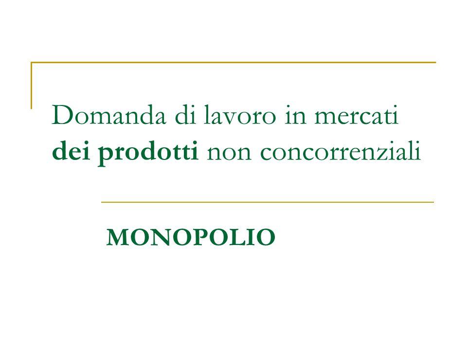 Liberalizzazioni Qual è leffetto sulloccupazione di provvedimenti di liberalizzazione dei mercati.