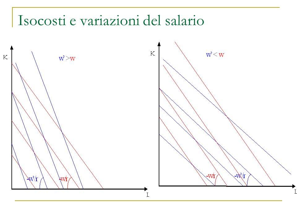 Isocosti e variazioni… Cosa accade se varia il costo del capitale, r? …provate