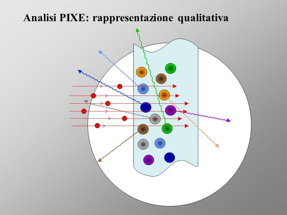 Analisi PIXE: rappresentazione qualitativa
