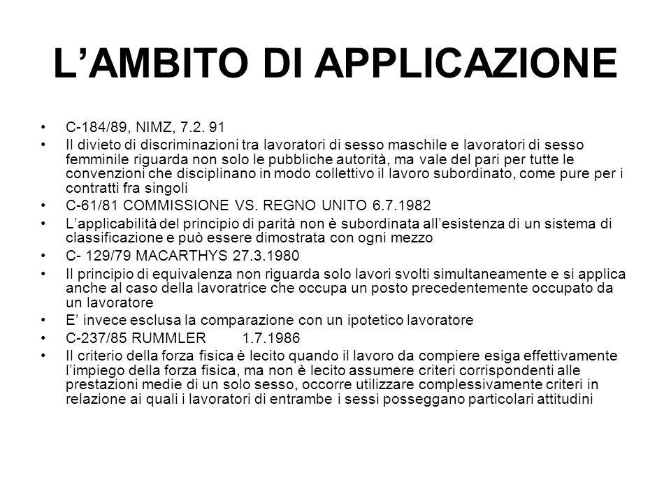 LAMBITO DI APPLICAZIONE C-184/89, NIMZ, 7.2.
