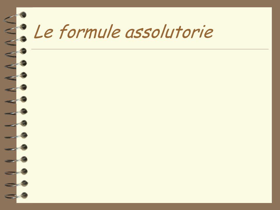 Le formule assolutorie