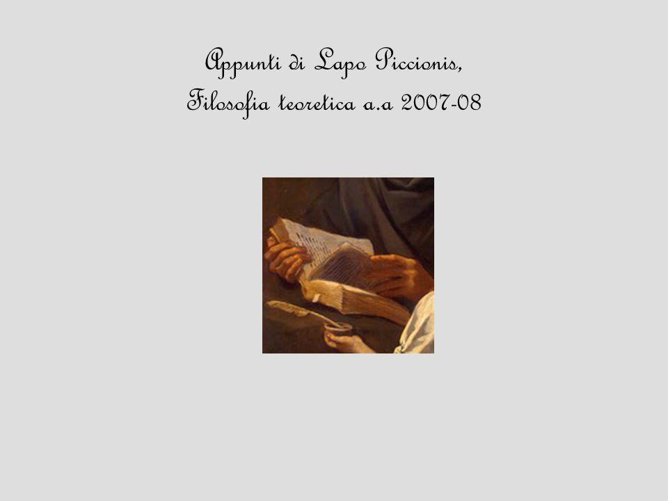 Appunti di Lapo Piccionis, Filosofia teoretica a.a 2007-08