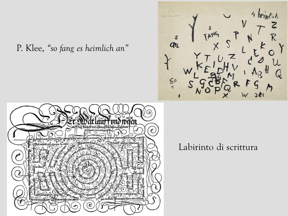 P. Klee, so fang es heimlich an Labirinto di scrittura