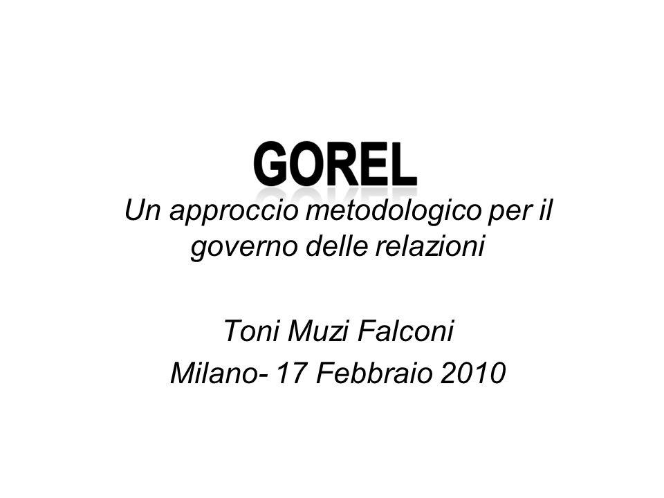 Un approccio metodologico per il governo delle relazioni Toni Muzi Falconi Milano- 17 Febbraio 2010