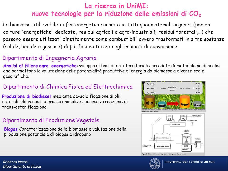 Dipartimento di Chimica Fisica ed Elettrochimica Produzione di biodiesel mediante de-acidificazione di olii naturali, olii esausti o grasso animale e
