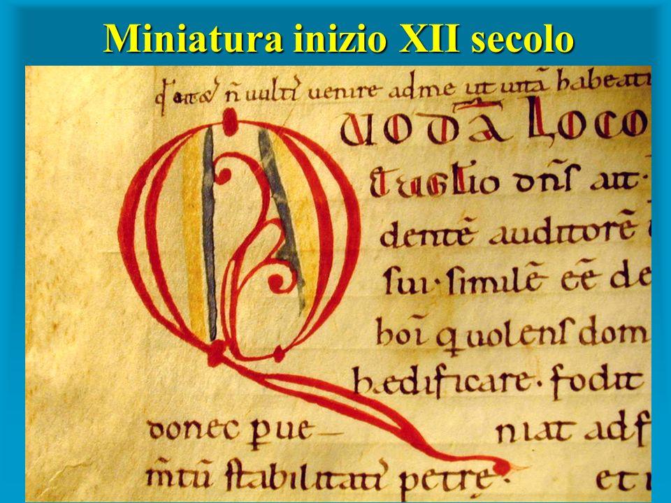 Miniatura inizio XII secolo