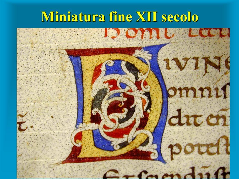 Miniatura fine XII secolo