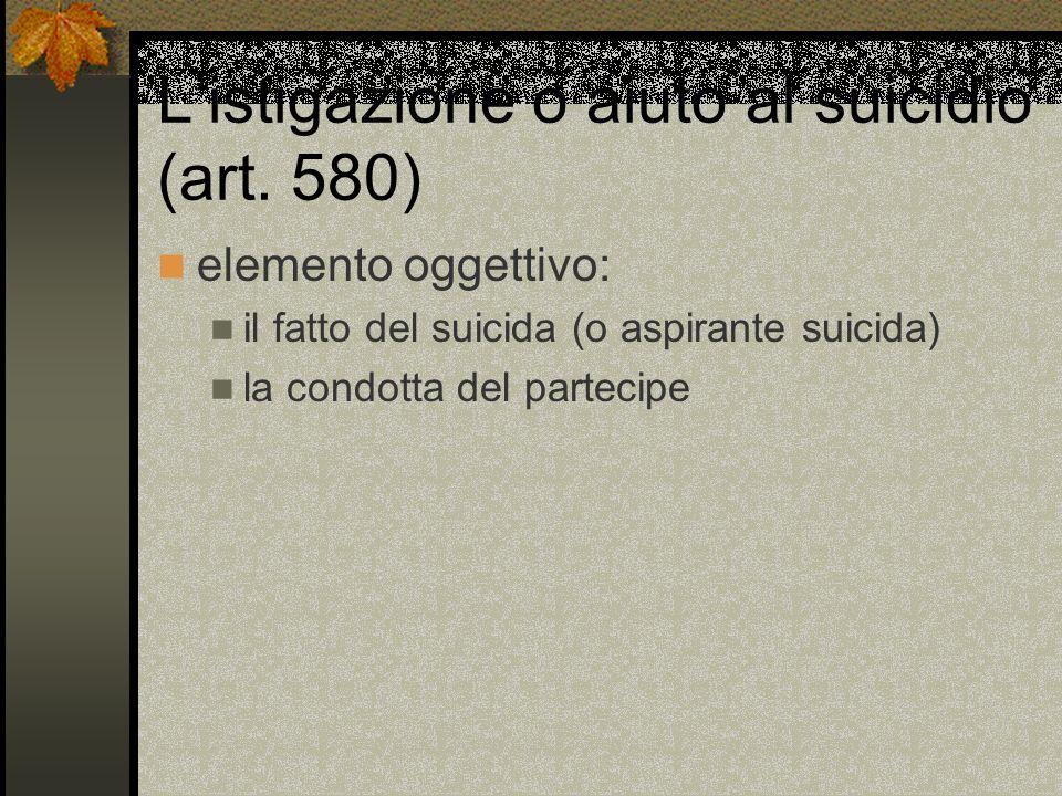 Listigazione o aiuto al suicidio (art.