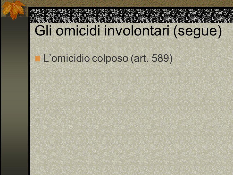 Lomicidio colposo (art. 589)