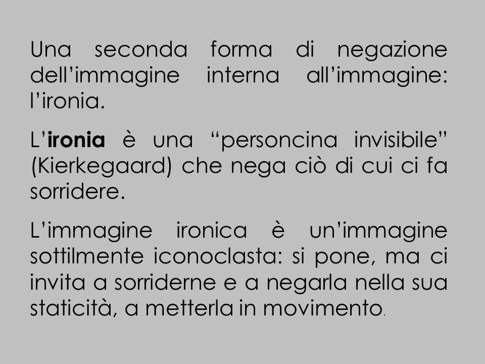Una seconda forma di negazione dellimmagine interna allimmagine: lironia.
