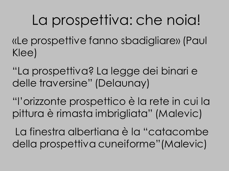 La prospettiva: che noia. «Le prospettive fanno sbadigliare» (Paul Klee) La prospettiva.