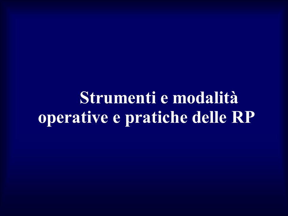 Strumenti e modalità operative e pratiche delle RP